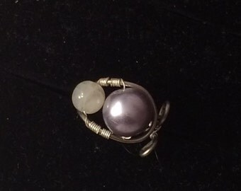 Light Purple Whale Ring