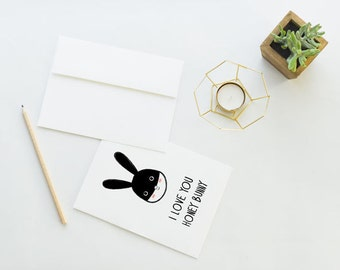 Masked Bunny Greeting Card