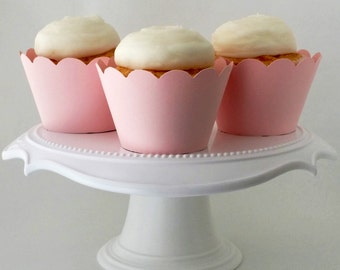 Set of 12 – Pale Pink Cupcake Wrappers – Standard Sized - Ready To Ship