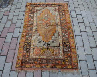 Anatolian Rugs - Rare Orange Tones - Organic Dyed