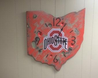 Ohio State Buckeye clock