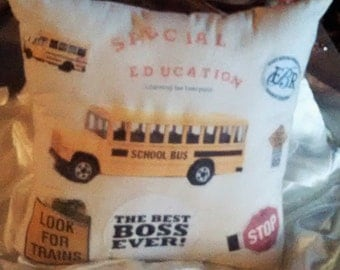 School Bus Pillow