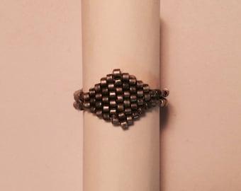 Modern Beaded Ring