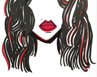 Original Hand Drawn Illustration (Marilyn)
