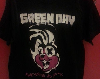 Green Day-Band unisex tshirt, size L
