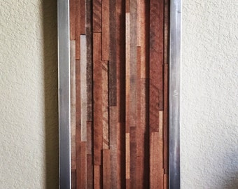 Steel and Red Oak Wall Hanging