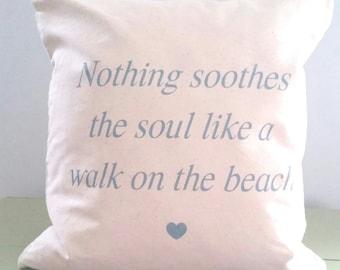 Walk on the Beach Pillow