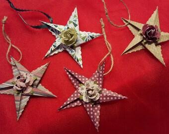 Handmade Star Christmas Tree Ornaments