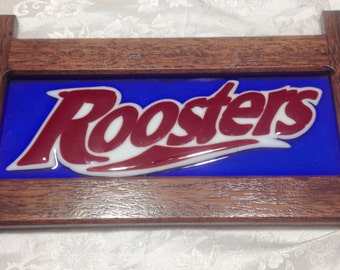 Sydney Roosters Glass Wall Plaque
