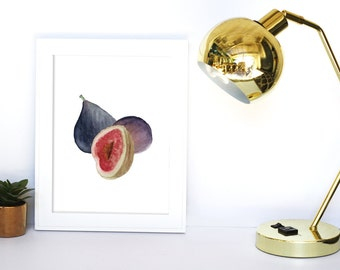 Figs Print , Printable Kitchen Art, Kitchen Printable, Printable Wall Art, Kitchen Fruit Print, Kitchen Wall Art,