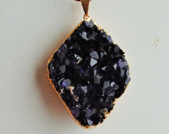 Amethyst Plated Cluster Pendant