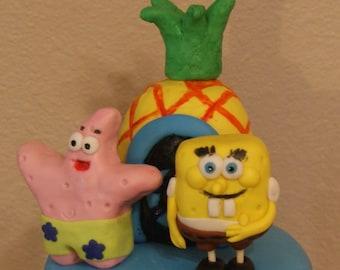 Spongebob cake topper set