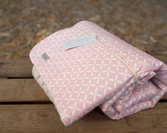 Minky blanket Baby - Baby blanket | Pink & grey