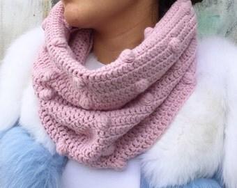 FREE Shipping! Merino chunky Cowl scarf, Knit Infinity Scarf, Knit Cowl, wool crochet scarf, wool winter scarf, men's cowl scarf, FREE SHIPP