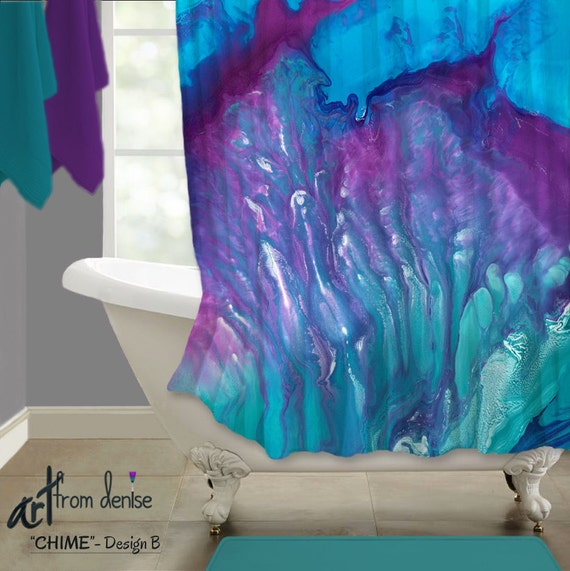 Purple And Teal Shower Curtain. Like this item  Hippie style Shower curtain Aqua purple Bathroom decor