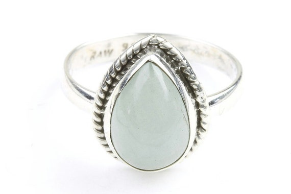 Mystic Waters Ring, Sterling Silver Aqua Marine Ring, Stone Jewelry, Ethnic, Gemstone, Boho, Gypsy, Wiccan, Hippie Jewelry, Spiritual