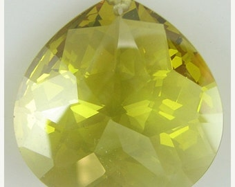 40% CLEARANCE 30mm faceted CZ cubic zirconia briolette pendant citrine 4893