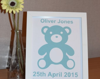 Personalised Baby Framed Cut Out