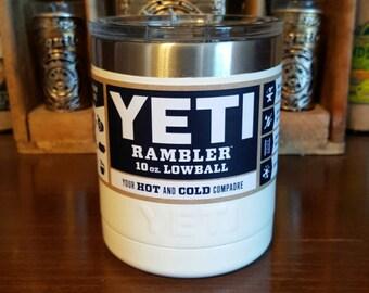 Custom Powder Coated Yeti Lowball - White