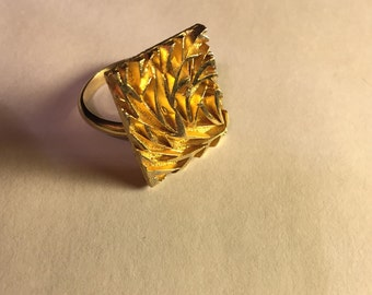Handcrafted Gold Colored Ring