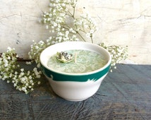 Syracuse Restaurant Ware Candle, Soy Candle, Restaurant Ware Bowl, Deco Restaurant Ware, 1950's Bowl