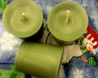 3 Grass Ross Scented Soy Votive Candles