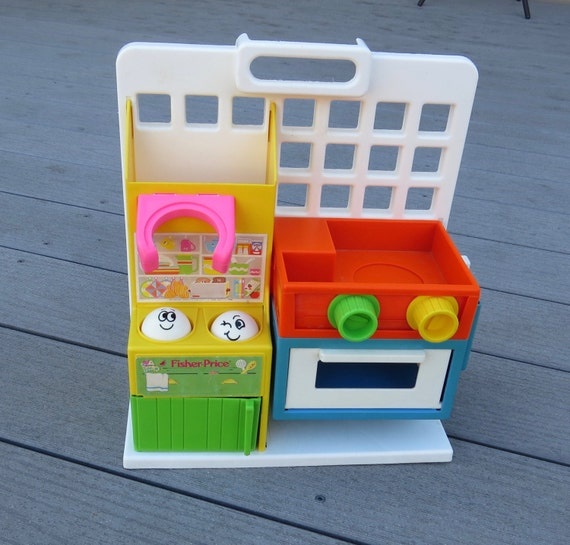 Vintage Fisher Price Mini Kitchen 1006 Children's Playset