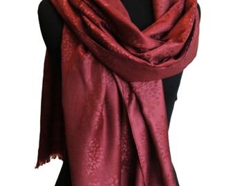 Deep maroon double sided scarf