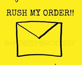 Rush Order Listing / Purchase this if you need your item in a hurry