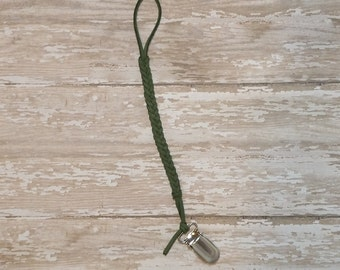Forest Green Pacifier Clip