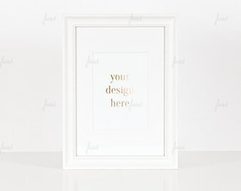 Styled Stock Photography - White Styled Frame - Print Display - Frame Mockup - 0032