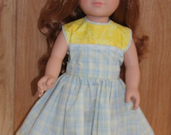 Yellow and blue plaid dress