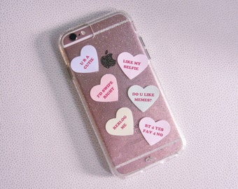 """Candy Conversation Hearts Sarcastic Tumblr/Internet 1"""" Stickers 20 Pack"""