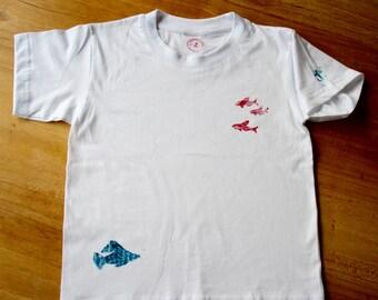 Children T-Shirt, maritime motifs, size 110 / 116