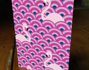 Flamingo card blank for your message Art Deco