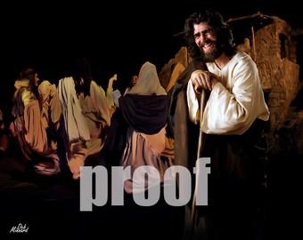 Jesus at a wedding, horizontal