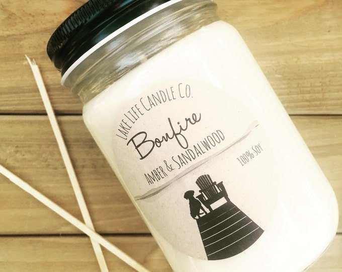 Bonfire Handmade Soy Candle: Lake Life Candle Co. Made in WI