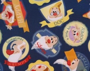 READY TO SHIP Seven Dwarfs Knotted Fleece throw with Antipill Backing