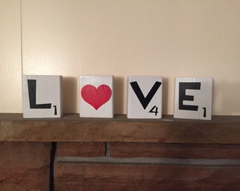 Love scrabble blocks