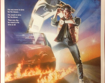 1985 Back to the Future Movie Poster ORIGINAL Mint