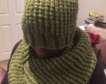 hat and cowl scarf