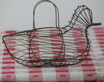 Wire Chicken Egg Gathering Basket with Handles