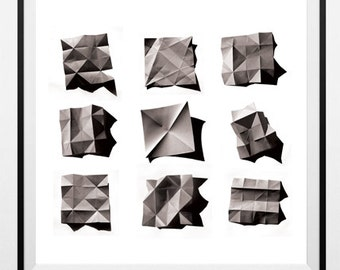 "Printable art, ""Foldings"" Photography"