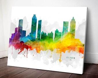 Atlanta Skyline Canvas, Atlanta Print, Atlanta Art, Atlanta Gift, Atlanta Cityscape, MMR-USGAAT05C