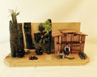 Handmade Forest Wood Cabin miniature