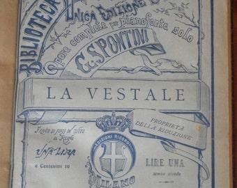 La Vestale Opera G Spontini Pianoforte solo