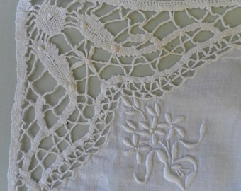 Lace mat handmade French vintage