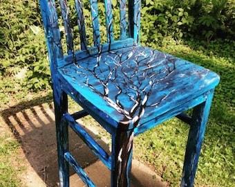 Blue Tree Chair