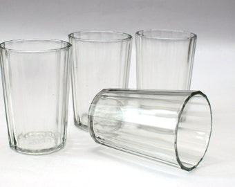 Soviet Glasses GRANYONKA - set of 4 pcs - faceted glass - Collectible glass - vintage glass - famous USSR glases