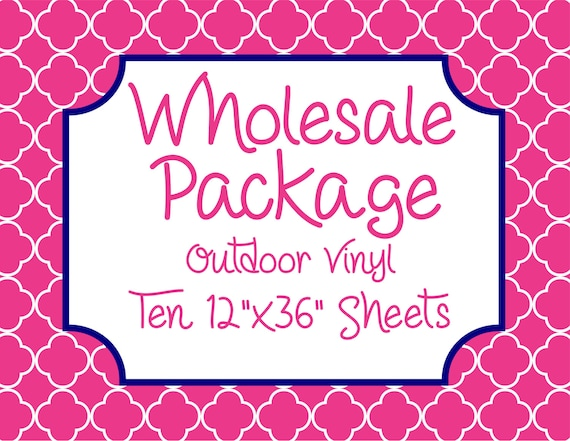 "Wholesale Package for Ten 12""x36"" Outdoor Vinyl Sheets // Beautiful, Vibrant Patterns"